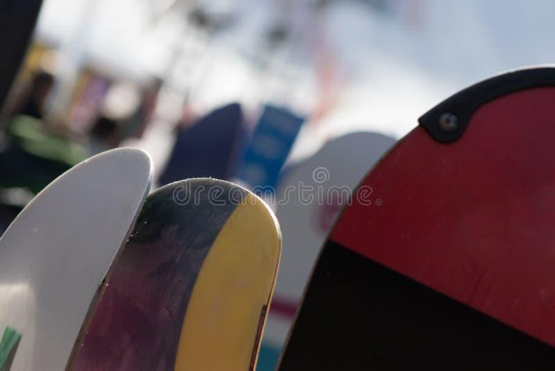 Een Snowboarding-Onderbreking stock foto