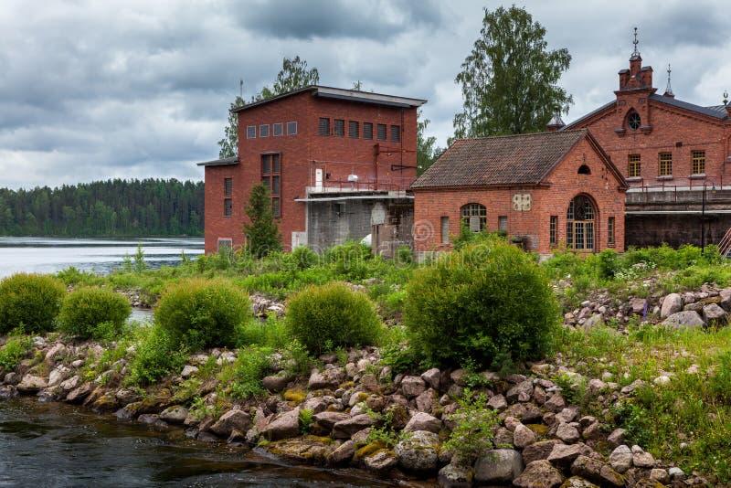 Een soort van de rivier Werla (Verla) museum finland stock afbeelding