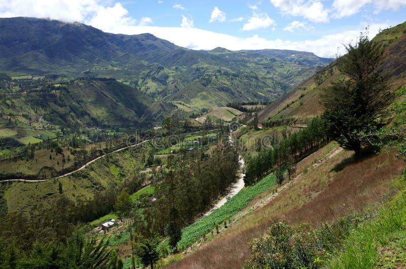 Een spectaculaire mening van de Ecuatoriaanse Andes royalty-vrije stock fotografie