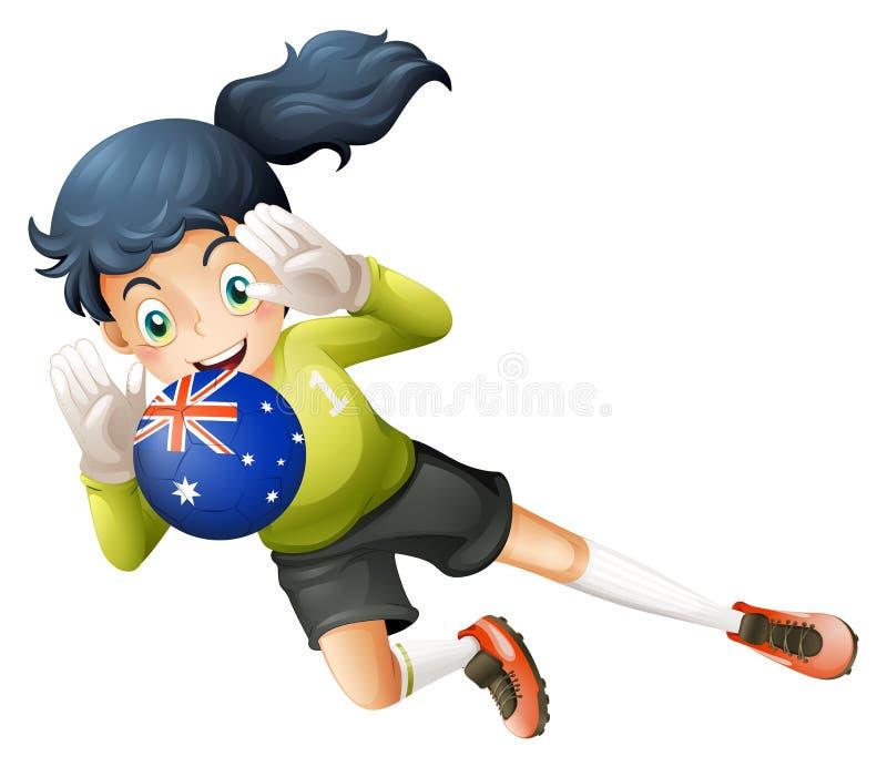 Download Een Speler Die De Bal Van Australië Gebruiken Vector Illustratie - Illustratie bestaande uit menselijk, wijfje: 39117056