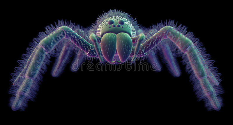 Een spin vector illustratie