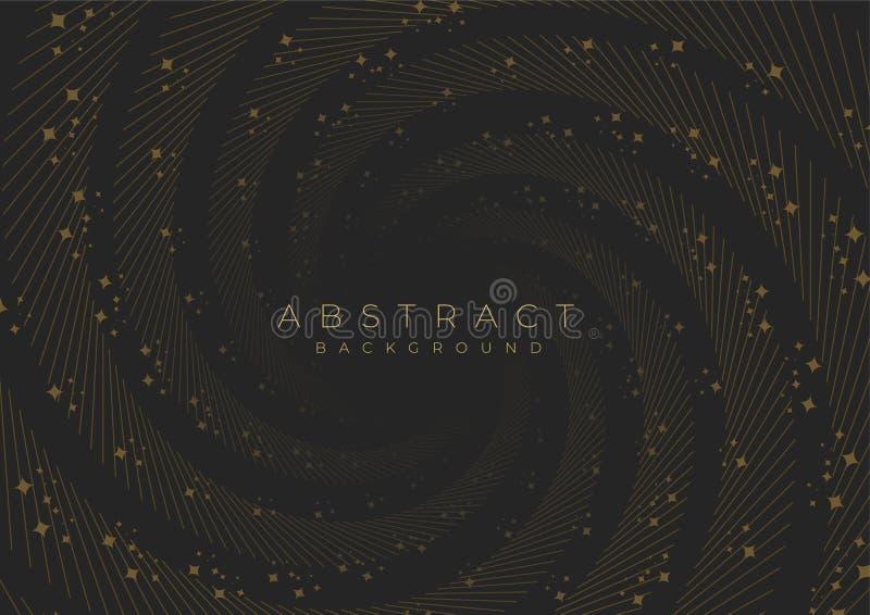 Een spiraal met abstracte sterluxe voor achtergrond of dekking stock illustratie