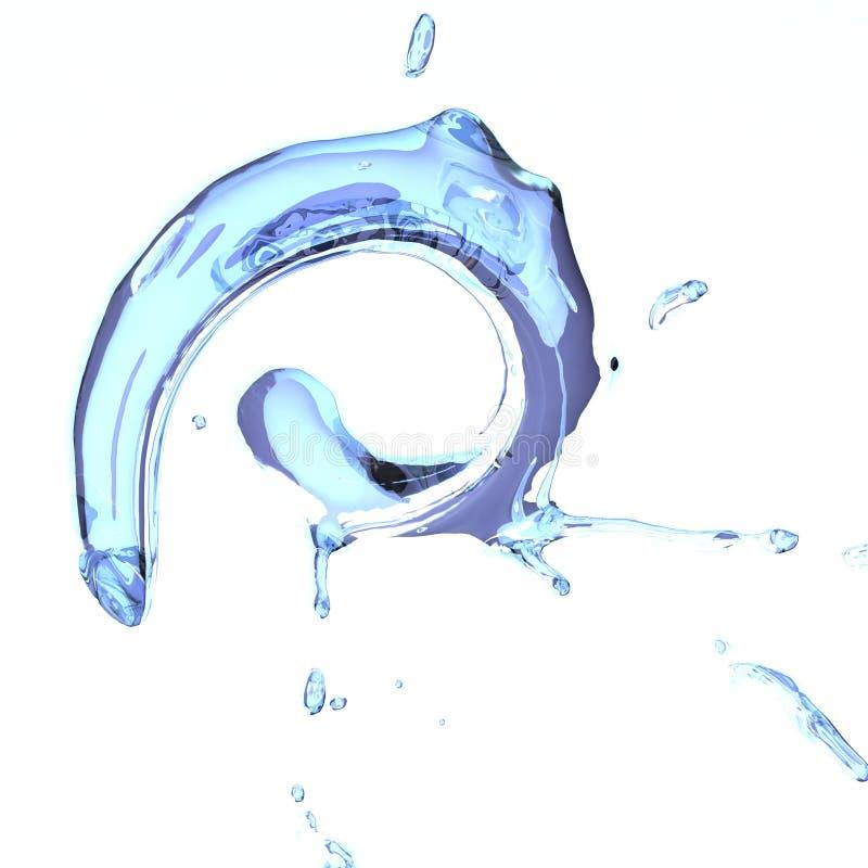 Een spiraalvormige fluid_01 royalty-vrije illustratie