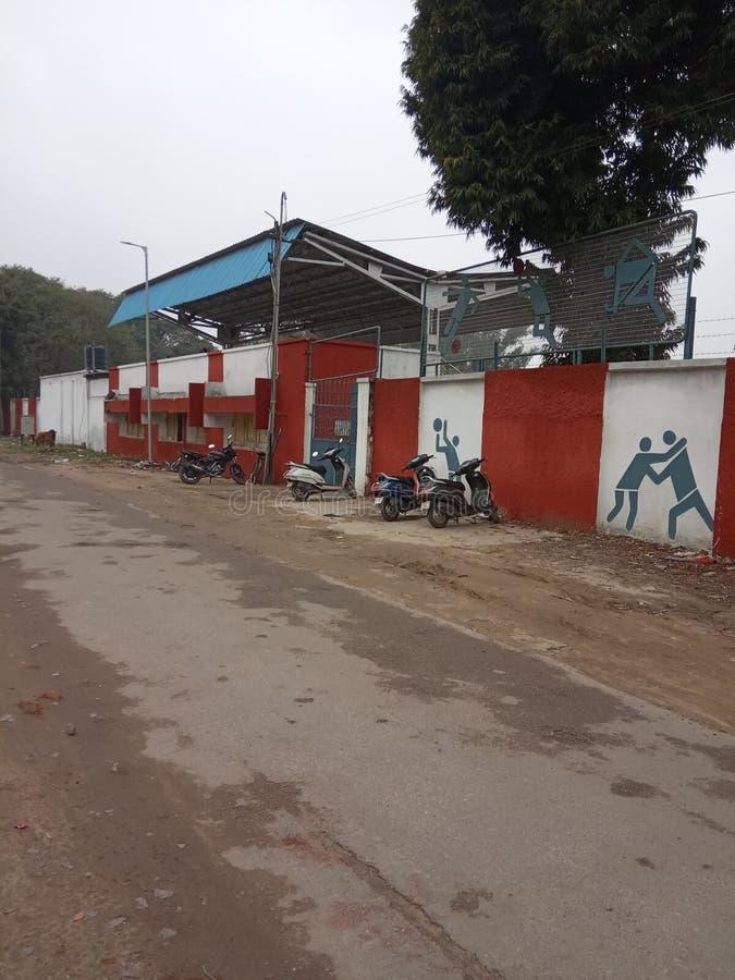 Een spoorwegstadion Lucknow-stad, India stock foto