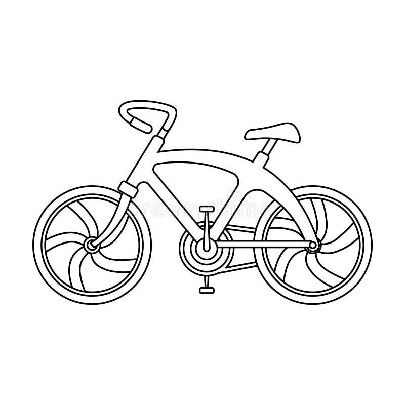 Een sportenfiets voor een snelle rit onderaan de weg Fiets ecologisch economisch vervoer Vervoer enig pictogram in overzicht stock illustratie