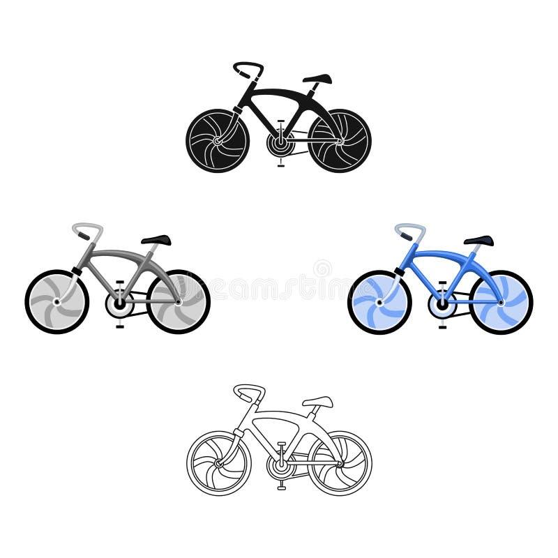 Een sportenfiets voor een snelle rit onderaan de weg Fiets ecologisch economisch vervoer Vervoer enig pictogram in beeldverhaal stock illustratie