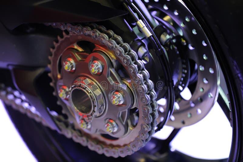 Een sportenmotorfiets stock afbeeldingen