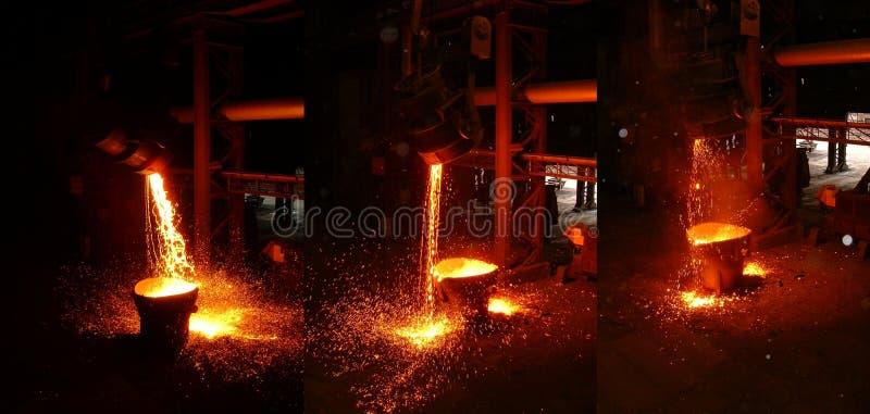 In een staalfabriek stock foto