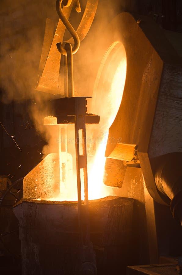 In een staalfabriek stock fotografie