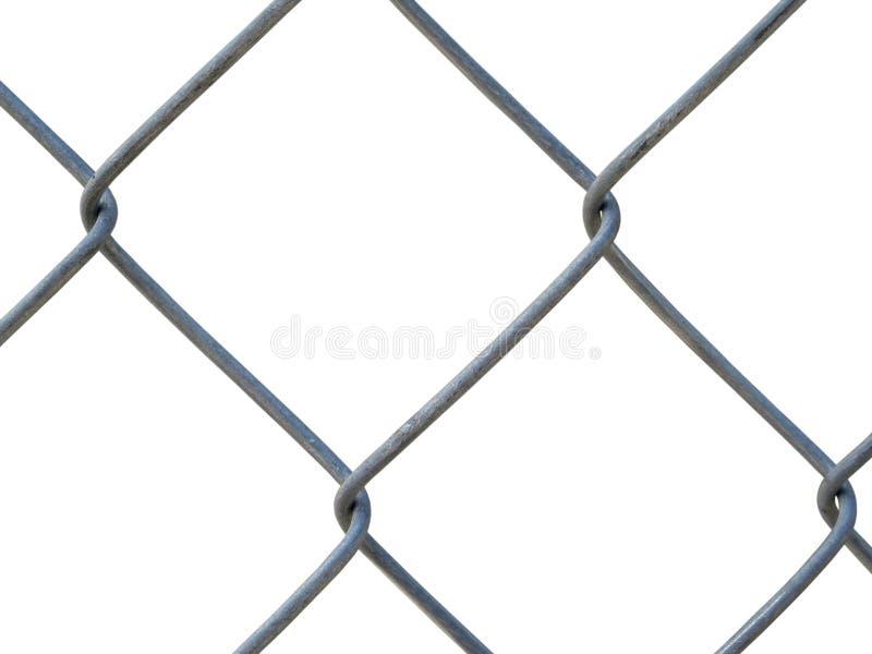 Een staalomheining - textuur stock afbeeldingen