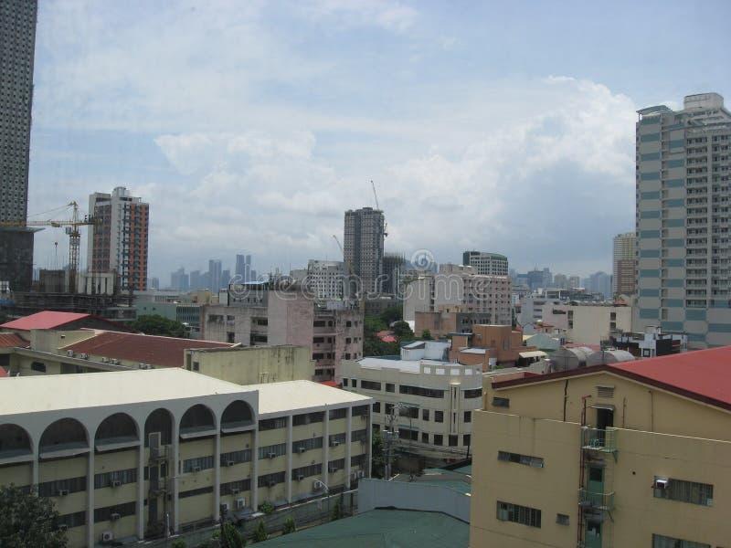 Een stadsmening van Manilla, Filippijnen royalty-vrije stock afbeelding