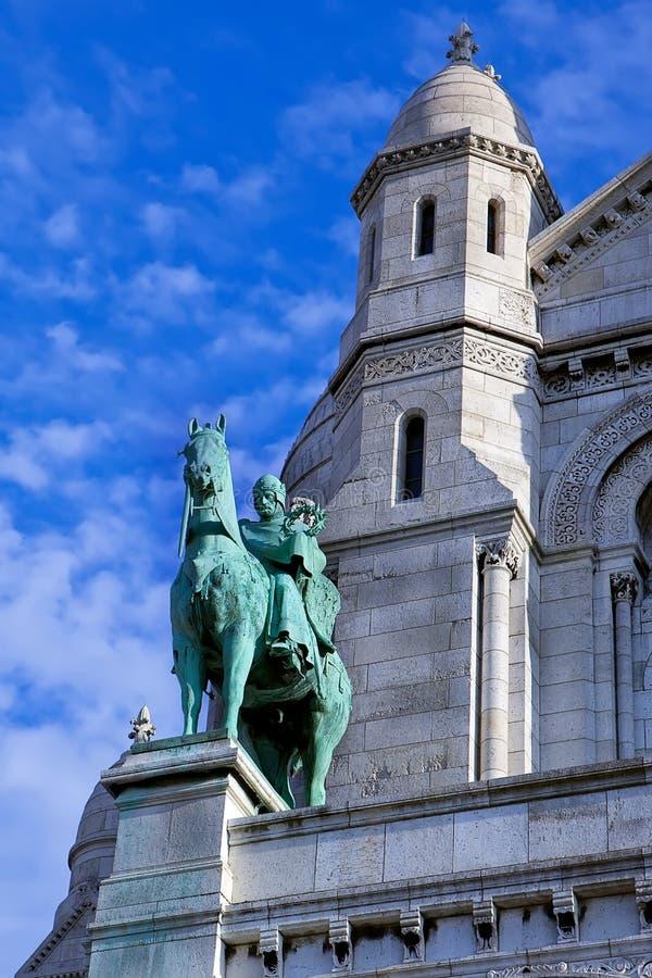 Een standbeeld van Koning Louis stock afbeelding