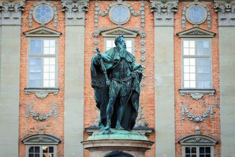 Een standbeeld van vasa van Gustaf eriksson stock foto's