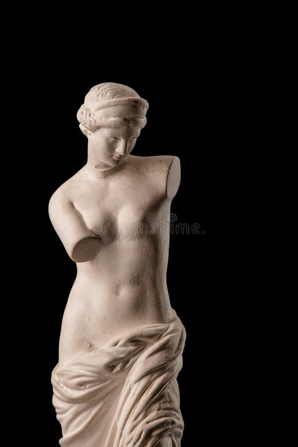 Een standbeeld van Venus, pleister stock afbeeldingen
