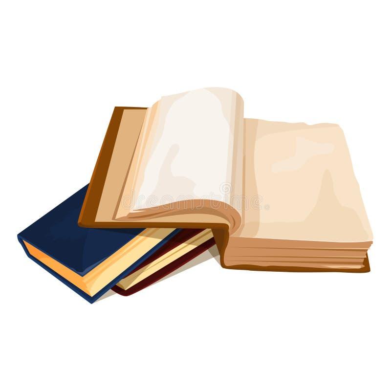 Een stapel boeken 3D-kleurenvectorillustratie stock illustratie