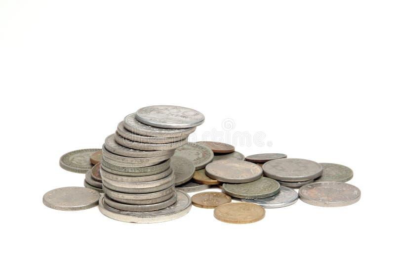 Een stapel muntstukken stock fotografie