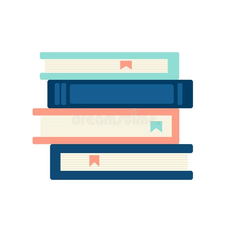 Een stapel van boeken vectorillustratie stock illustratie