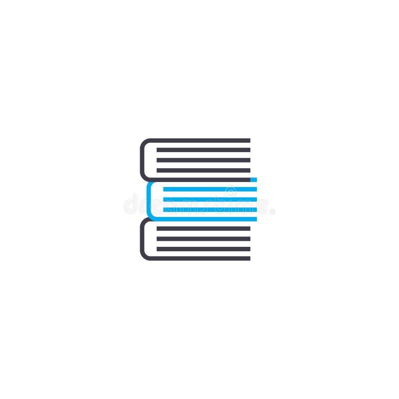 Een stapel van de slagpictogram van de boeken vector dun lijn Een stapel van boeken schetst illustratie, lineair teken, symboolco stock illustratie