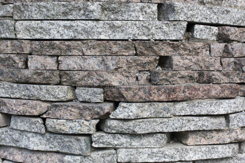 Een stapel van de textuurachtergrond van het stenenpatroon stock fotografie