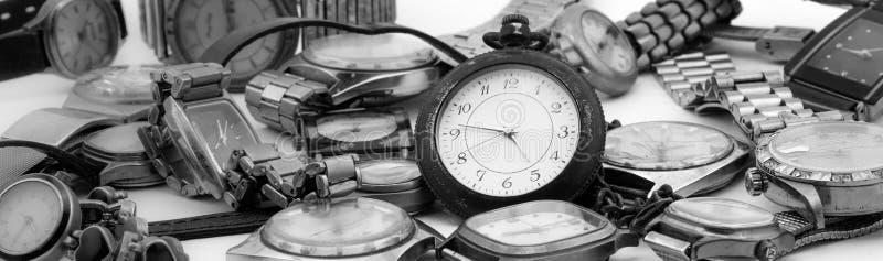 Horloges stock afbeelding