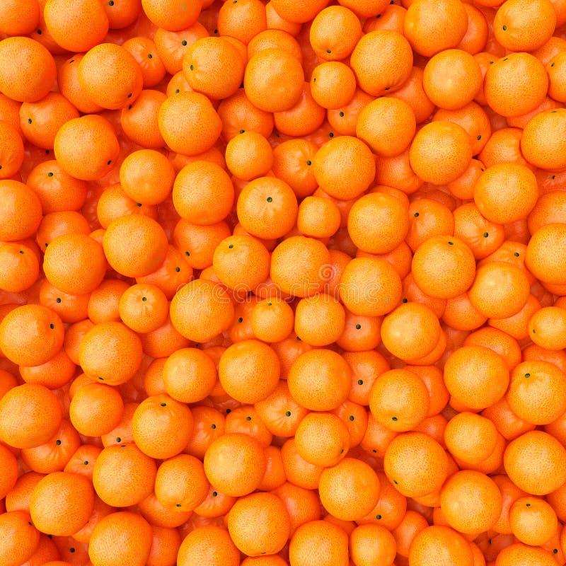 Een stapel van sinaasappel royalty-vrije illustratie