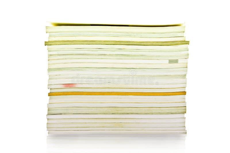 Een stapel van tijdschriften stock foto