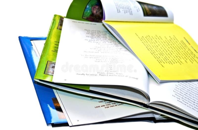 Een stapel van Verhalenboeken stock foto's