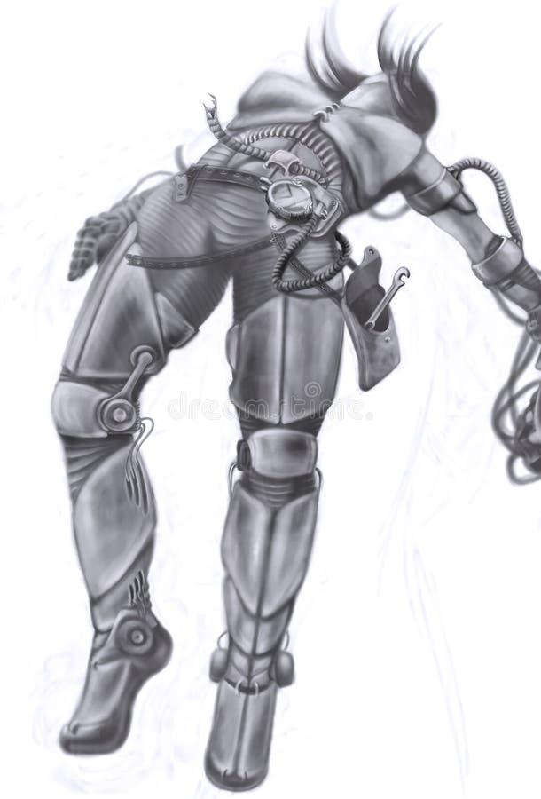 Een steampunkschets royalty-vrije illustratie