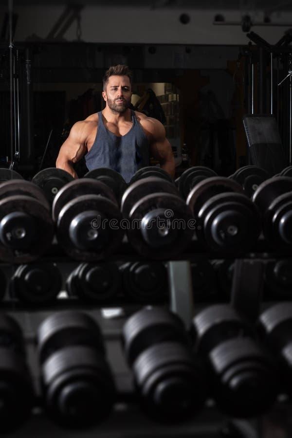 Een sterke mannelijke bodybuilder royalty-vrije stock foto