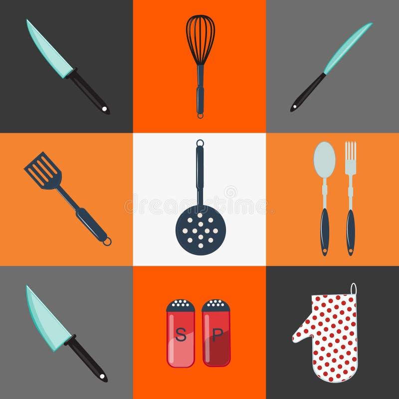 Een steun in de vorm van een aardige eend De apparatuur van de keuken Keukenbestek huishouden vector illustratie