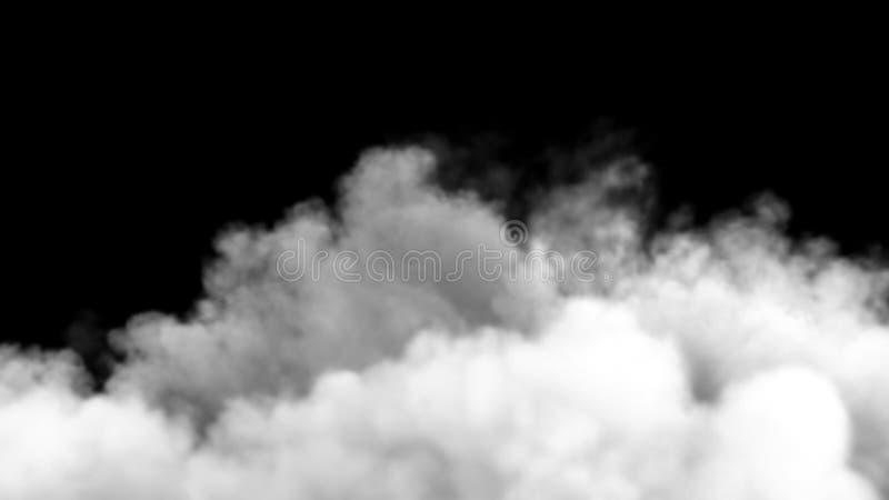 Een stijgende rookwolk na een sterke explosie en een drukgolf het 3d teruggeven stock illustratie