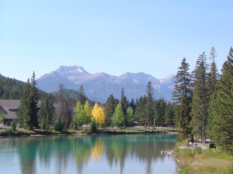 Een stille dag in Banff royalty-vrije stock afbeelding
