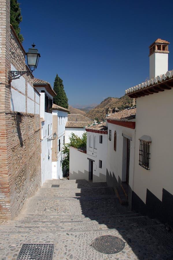 Een straat in Granada royalty-vrije stock afbeelding