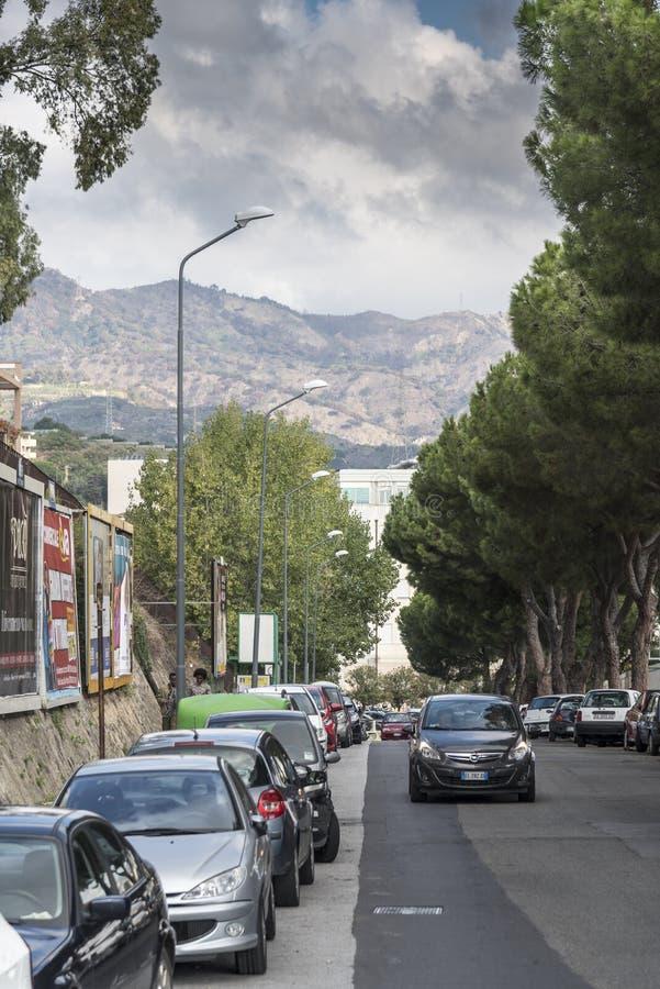 Een straat in Messina Italië royalty-vrije stock afbeeldingen