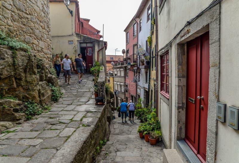 Een straat in Porto - Portugal royalty-vrije stock foto