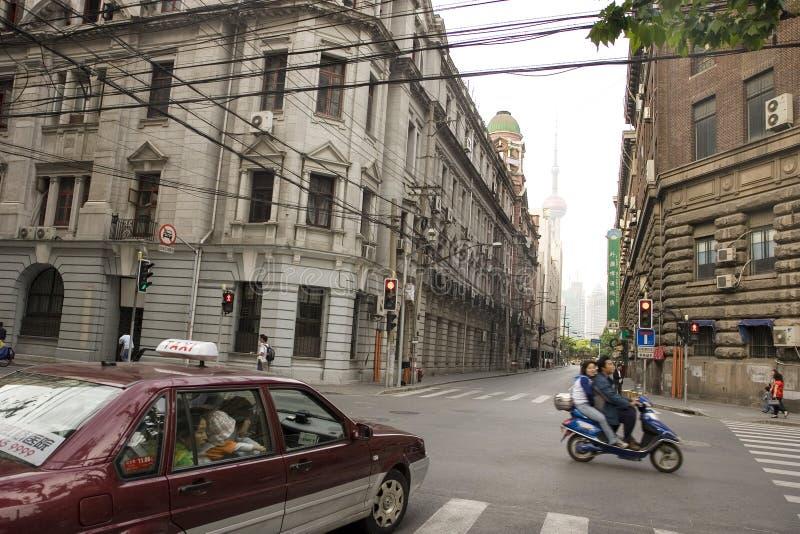 Een straatscène in Shanghai royalty-vrije stock foto