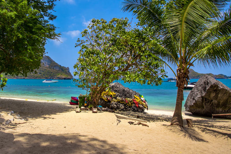 Een Strand van Angthong Marine National Park royalty-vrije stock afbeeldingen