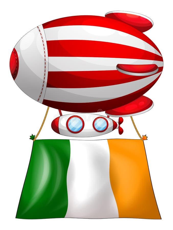 Een streep-gekleurde ballon met de vlag van Ierland vector illustratie