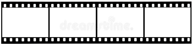Een strook van gebruikte 35mm film met het knippen van wegen royalty-vrije stock afbeelding