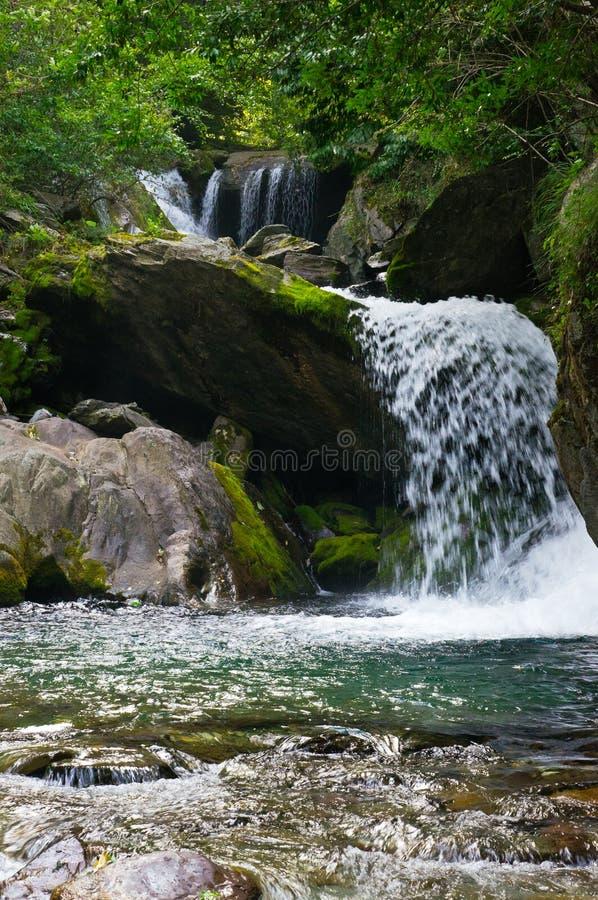Een stroom in Wudang-Berg stock foto