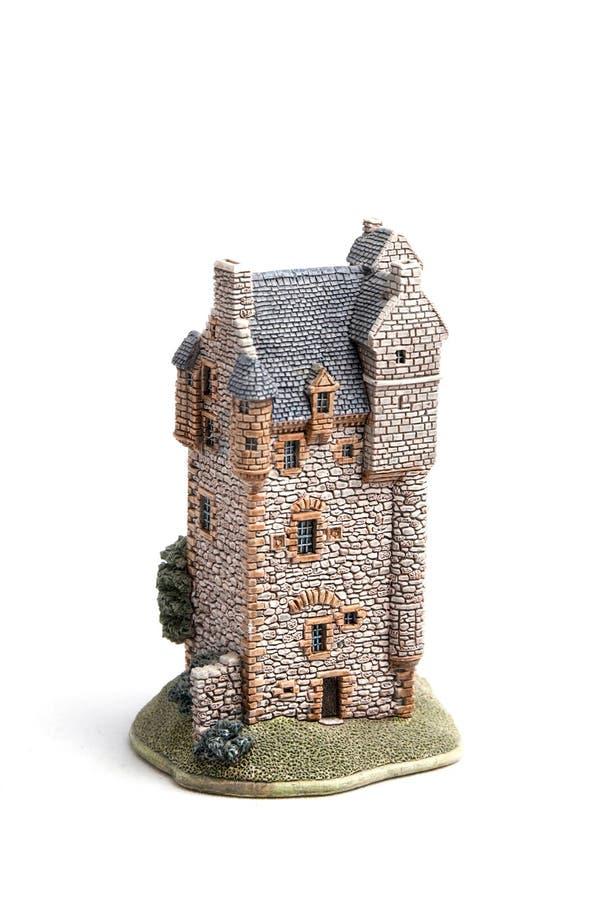 Een stuk speelgoed huis royalty-vrije stock foto
