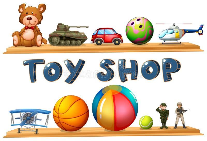 Een stuk speelgoed winkel royalty-vrije illustratie