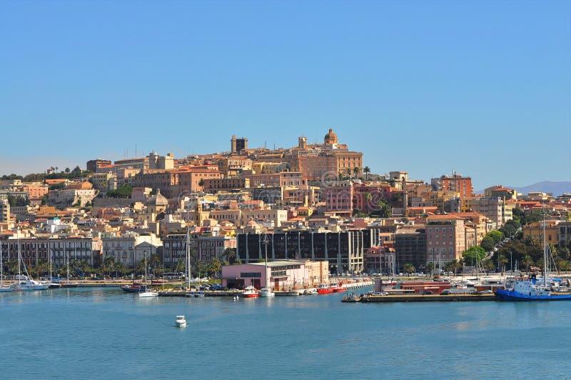 Een stuk van de jachthaven van Cagliari stock fotografie