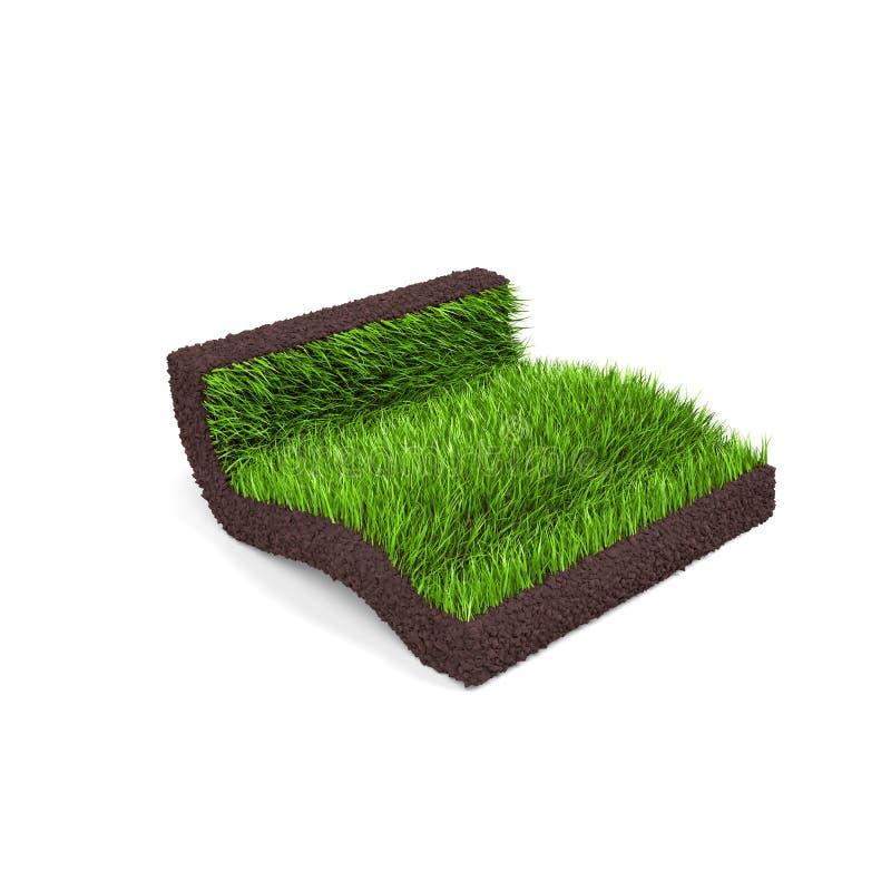 Een stuk van gras met gras royalty-vrije stock afbeeldingen
