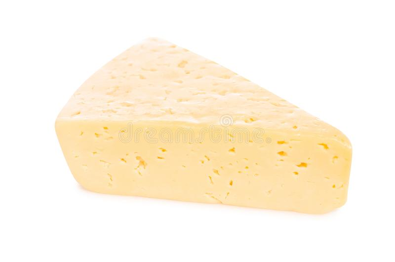 Een stuk van kaas royalty-vrije stock fotografie