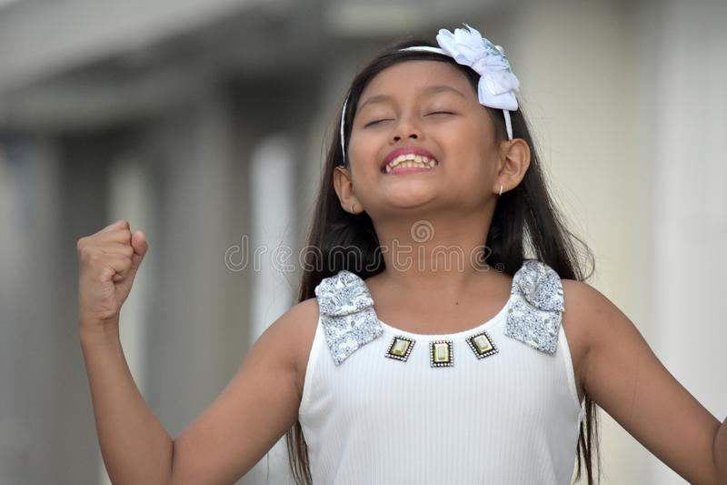 Een Succesvol Jeugdig Meisje royalty-vrije stock afbeelding