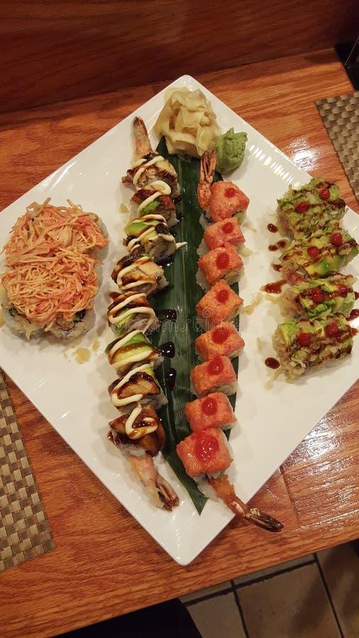 Een Sushiverrukking stock afbeeldingen