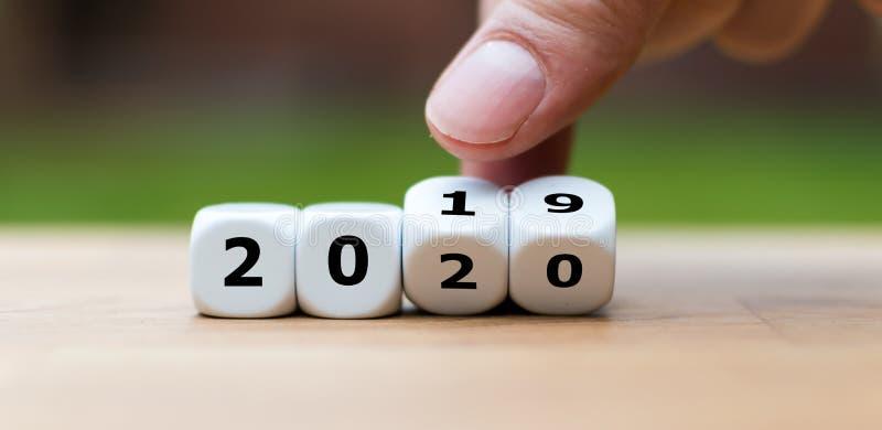 Een symbool van Sylvester 2020 stock foto's