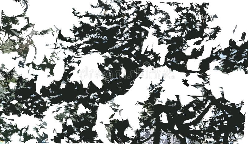 Een tak van pijnboom in de sneeuw royalty-vrije stock fotografie
