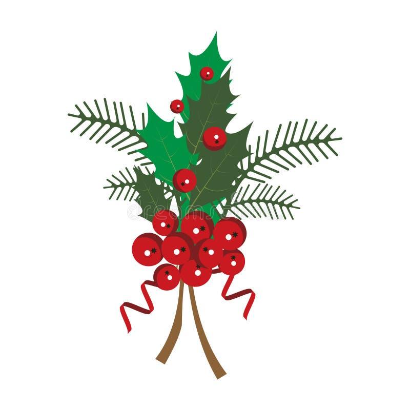 Een tak van rode viburnumbessen op een witte achtergrond Vector illustratie stock illustratie